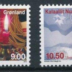 Sellos: GROENLANDIA 2013 IVERT 630/1 *** NAVIDAD. Lote 212374970
