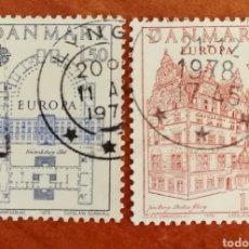 Sellos: DINAMARCA, EUROPA CEPT 1978 USADA(FOTOGRAFÍA REAL). Lote 213602666