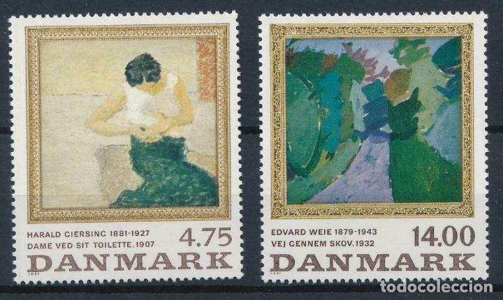 DINAMARCA 1991 IVERT 1019/20 *** CUADROS DE PINTORES DANESES - ARTE - PINTURA (Sellos - Extranjero - Europa - Dinamarca)