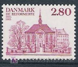 DINAMARCA 1985. 300 ANIVERSARIO DE LA REFORMA DE LA IGLESIA ALEMANA Y FRANCESA (Sellos - Extranjero - Europa - Dinamarca)