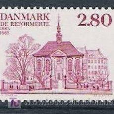 Sellos: DINAMARCA 1985. 300 ANIVERSARIO DE LA REFORMA DE LA IGLESIA ALEMANA Y FRANCESA. Lote 217528502