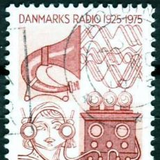 Sellos: DINAMARCA 1975. 50 ANIVERSARIO DE LAS EMISIONES DE RADIO DANESAS. Lote 217528612