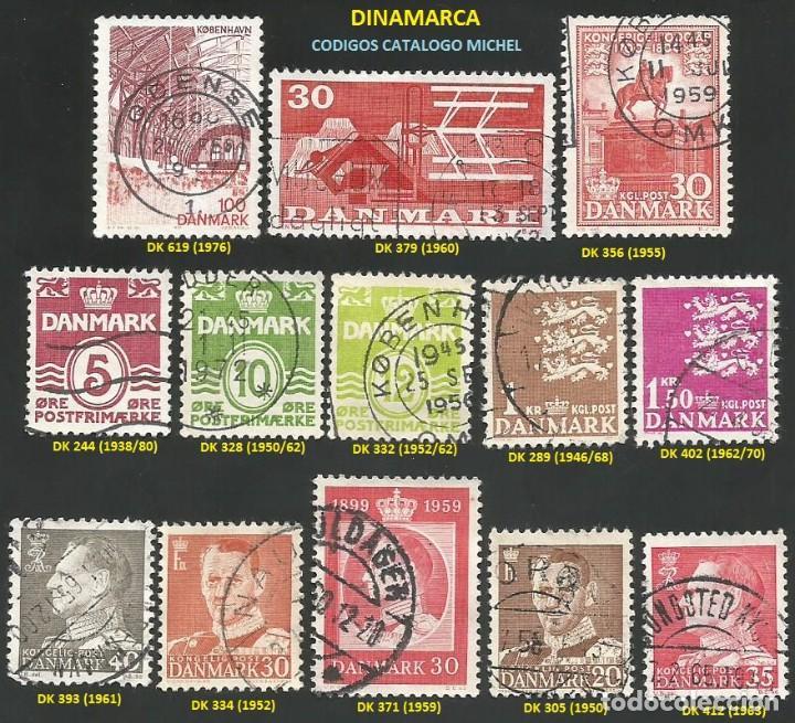 DINAMARCA 1938 A 1980 - LOTE VARIADO (VER IMAGEN) - 13 SELLOS USADOS (Sellos - Extranjero - Europa - Dinamarca)