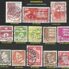 Sellos: DINAMARCA 1938 A 1980 - LOTE VARIADO (VER IMAGEN) - 13 SELLOS USADOS. Lote 218243745