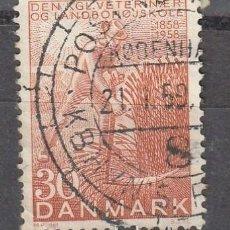 Sellos: 1958 DINAMARCA, CENTENARIO ESCUELA VETERINARIA Y AGRICULTURA, YVERT 377. Lote 222579785