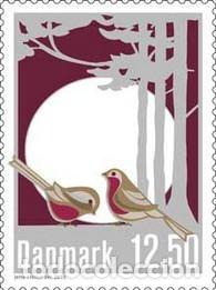 SELLO ADESIVO USADO DE DINAMARCA, YT 1728 (Sellos - Extranjero - Europa - Dinamarca)