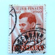 Sellos: SELLO POSTAL DINAMARCA 1960, 30 ØRE , NIELS RYBERG FINSEN 1860-1960, USADO. Lote 235328800