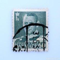 Sellos: SELLO POSTAL DINAMARCA 1953, 60 ØRE , REY FREDERIK IX, USADO. Lote 235330345