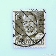 Sellos: SELLO POSTAL DINAMARCA 1950, 40 ØRE , REY FREDERIK IX, USADO. Lote 235428230