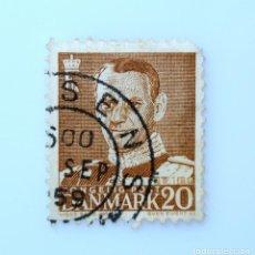 Sellos: SELLO POSTAL DINAMARCA 1950, 20 ØRE , REY FREDERIK IX, USADO. Lote 235430645