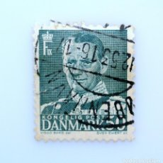 Sellos: SELLO POSTAL DINAMARCA 1950, 50 ØRE , REY FREDERIK IX, USADO. Lote 235520950