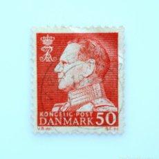 Sellos: SELLO POSTAL DINAMARCA 1965, 50 ØRE , REY FREDERIK IX, USADO. Lote 236686390
