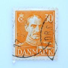 Sellos: SELLO POSTAL DINAMARCA 1943, 30 ØRE , REY CHRISTIAN X, USADO. Lote 236688130