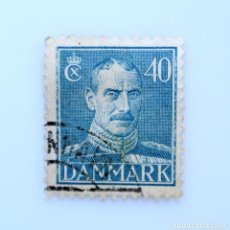 Sellos: SELLO POSTAL DINAMARCA 1943, 40 ØRE , REY CHRISTIAN X, USADO. Lote 236692155