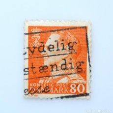 Sellos: SELLO POSTAL DINAMARCA 1961, 80 ØRE , REY FREDERIK IX, USADO. Lote 236693650