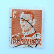 Sellos: SELLO POSTAL DINAMARCA 1952, 30 ØRE , REY FREDERIK IX, USADO. Lote 236694265