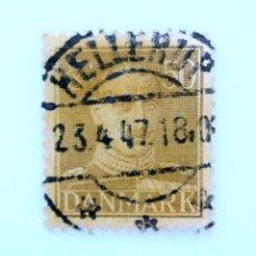 Sellos: SELLO POSTAL DINAMARCA 1945, 50 ØRE , REY CHRISTIAN X, USADO. Lote 236695170