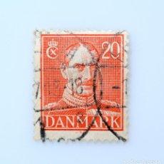 Sellos: SELLO POSTAL DINAMARCA 1942, 20 ØRE , REY CHRISTIAN X, USADO. Lote 236700345