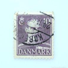 Sellos: SELLO POSTAL DINAMARCA 1945, 10 ØRE , REY CHRISTIAN X, USADO. Lote 236701585