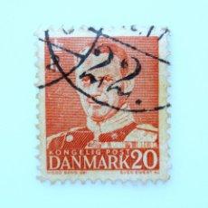 Sellos: SELLO POSTAL DINAMARCA 1948, 20 ØRE , REY FREDERIK IX, USADO. Lote 236704865