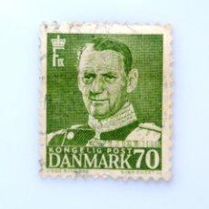 Sellos: SELLO POSTAL DINAMARCA 1950, 70 ØRE , REY FREDERIK IX, USADO. Lote 236705250
