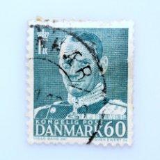 Sellos: SELLO POSTAL DINAMARCA 1953, 60 ØRE , REY FREDERIK IX, USADO. Lote 236705865