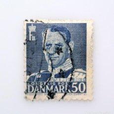 Sellos: SELLO POSTAL DINAMARCA 1950, 50 ØRE , REY FREDERIK IX, USADO. Lote 236706535