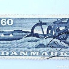Sellos: SELLO POSTAL DINAMARCA 1960, 60 ØRE, ARADO , AGRICULTURA, USADO. Lote 236730205