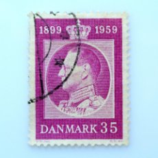 Sellos: SELLO POSTAL DINAMARCA 1959, 35 ØRE, REY FREDERIK IX, USADO. Lote 236730800