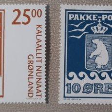 Timbres: SELLO GROENLANDIA/GRONLAND/KALAALLIT NUNAAT- PAKKE PORTO. Lote 243485070