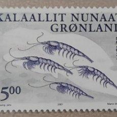 Sellos: SELLO GROENLANDIA/GRONLAND/KALAALLIT NUNAAT-ANIMALES MARINOS-SIN CIRCULAR-2001. Lote 244547665