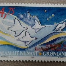 Sellos: SELLO GROENLANDIA/GRONLAND/KALAALLIT NUNAAT - JUULLIMI PILLUARITSI-SIN CIRCULAR-2001. Lote 244549545