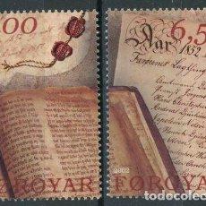 Sellos: FEROE 2002 IVERT 421/2 *** 150º ANIVERSARIO DEL PARLAMENTO DE FEROE. Lote 244550825