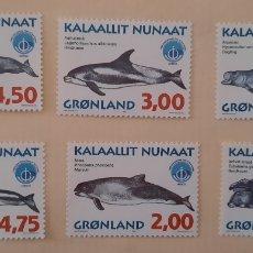 Sellos: SELLO GROENLANDIA/GRONLAND/KALAALLIT NUNAAT- AÑO INTERNACIONAL DEL OCÉANO/OCEANOGRAFI-UNESCO-1998. Lote 244556325