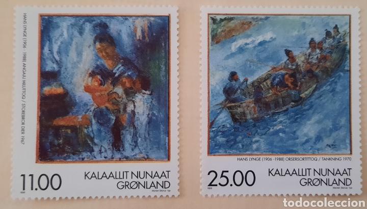 SELLO GROENLANDIA/GRONLAND/KALAALLIT NUNAAT- PINTURA/HANS LYNGE/ANGAJU MILUTTOQ-1998-SIN CIRCULAR (Sellos - Extranjero - Europa - Dinamarca)