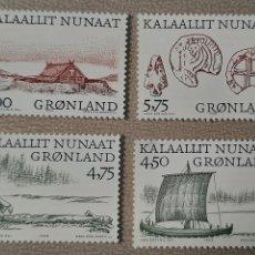 Sellos: GROENLANDIA/GRONLAND/KALAALLIT NUNAAT- PAISAJE Y COSTUBRES DANESAS-1999-SIN CIRCULAR. Lote 244564055