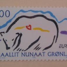 Sellos: GROENLANDIA/GRONLAND/KALAALLIT NUNAAT- OSO POLAR BLANCO-1999-SIN CIRCULAR. Lote 244564965