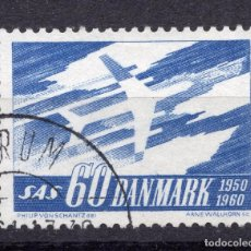 Sellos: DINAMARCA, 1961 , MICHEL 388X. Lote 245289095