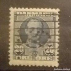 Sellos: DINAMARCA . 20 ORE - REY FEDERICO VIII. AÑO 1907 - USADO.. Lote 256045050
