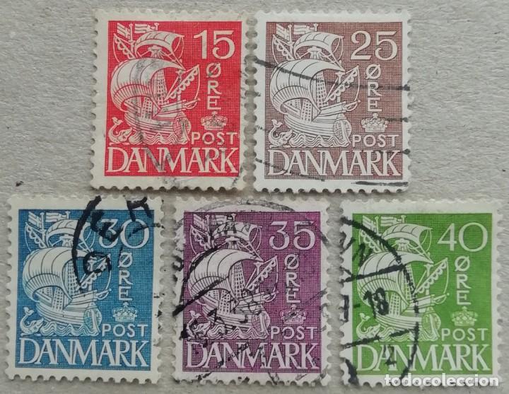 1933. DINAMARCA. 214, 217, 218, 220, 221. GALEÓN. USADO. (Sellos - Extranjero - Europa - Dinamarca)