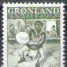 Sellos: SELLO NUEVO DE GROENLANDIA 1961, YT 35. Lote 262565750