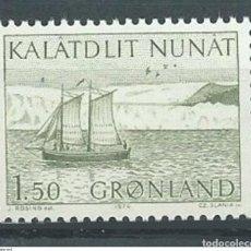 Sellos: SELLO NUEVO DE GROENLANDIA 1974, YT 75. Lote 262566685