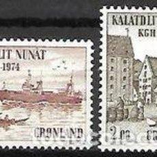 Sellos: SELLOS NUEVOS DE GROENLANDIA 1974, YT 76/ 77. Lote 262567205