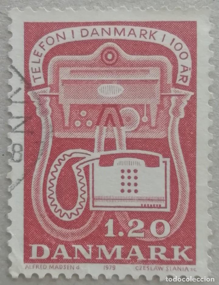 1979. DINAMARCA. 676. CENTENARIO DEL TELÉFONO EN DINAMARCA. SERIE COMPLETA. USADO. (Sellos - Extranjero - Europa - Dinamarca)