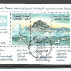 Sellos: GROENLANDIA 1987 - YVERT NRO. BF1 - USADO. Lote 270661213