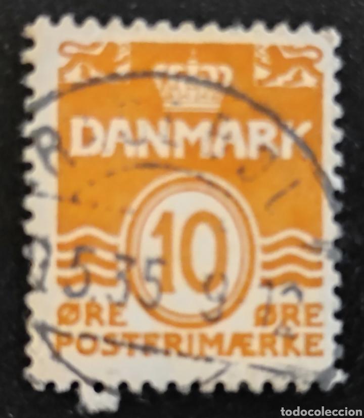 SELLO USADO DANÉS 1933. DINAMARCA 10 CÉNTIMOS DE CORONA. DANMARK 10 ØRE POSTERIMÆRJE (Sellos - Extranjero - Europa - Dinamarca)