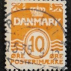 Sellos: SELLO USADO DANÉS 1933. DINAMARCA 10 CÉNTIMOS DE CORONA. DANMARK 10 ØRE POSTERIMÆRJE. Lote 276971013