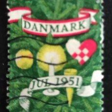 Sellos: SELLO USADO DINAMARCA. DANMARK JUL 1951 NAVIDAD. Lote 276975163
