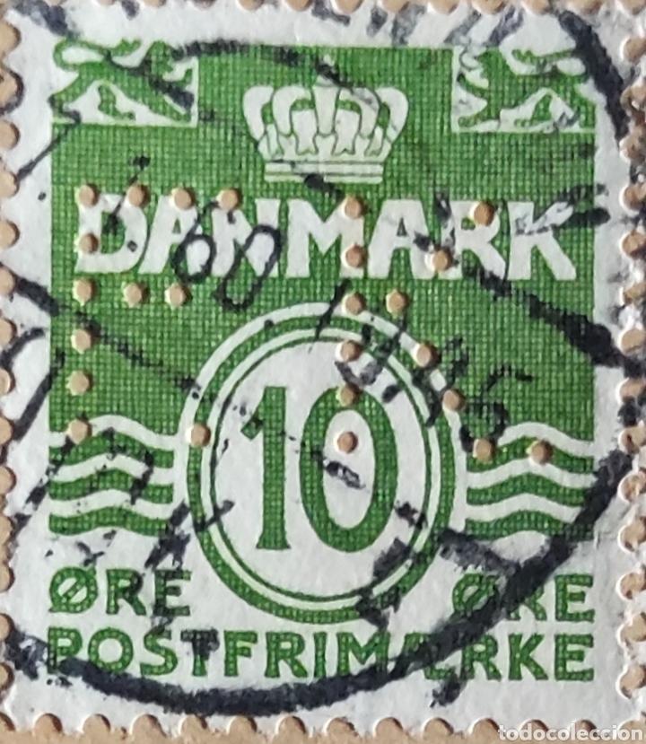 Sellos: 2 sellos de Dinamarca usados. 1 de Frederic IX 30 ore y 1 de 10 øre verde - Foto 3 - 277168803