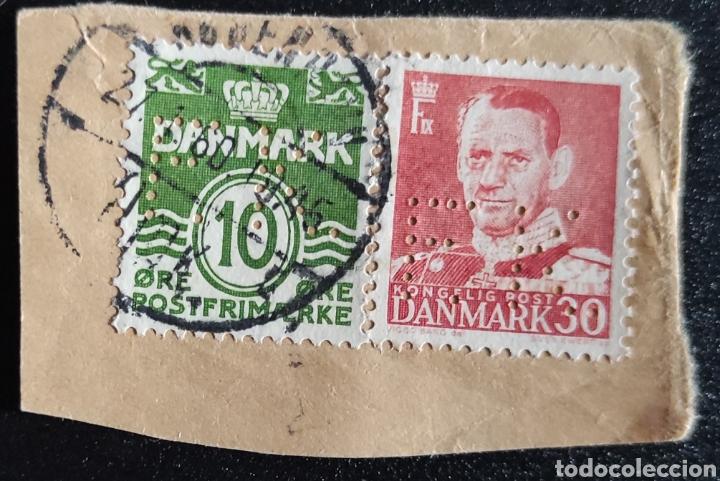 2 SELLOS DE DINAMARCA USADOS. 1 DE FREDERIC IX 30 ORE Y 1 DE 10 ØRE VERDE (Sellos - Extranjero - Europa - Dinamarca)